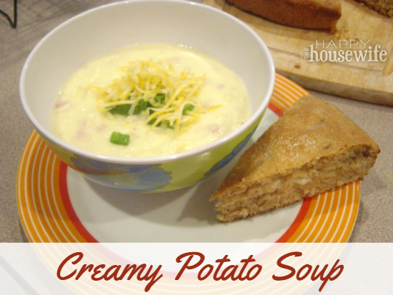 Creamy Potato Soup at The Happy Housewife