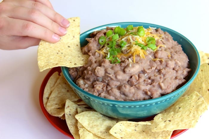 homemade refried beans