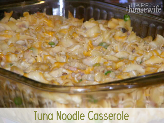 Tuna Noodle Casserole at The Happy Housewife