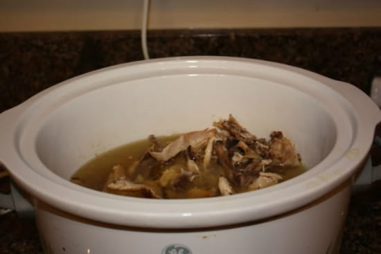 Whole Chicken in a Crock Pot at The Happy Housewife