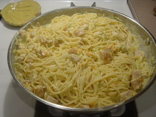Chicken Tetrazzini at The Happy Housewife