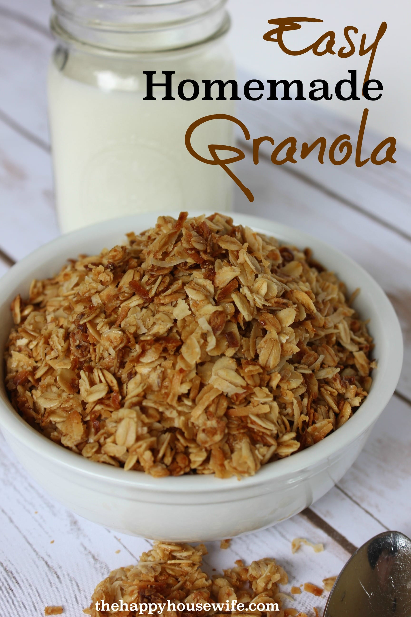 Homemade Maple Granola With Walnuts, Dates And Pomegranate ...