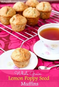 Whole Wheat Lemon Poppy Seed Muffins - The Happy Housewife ...