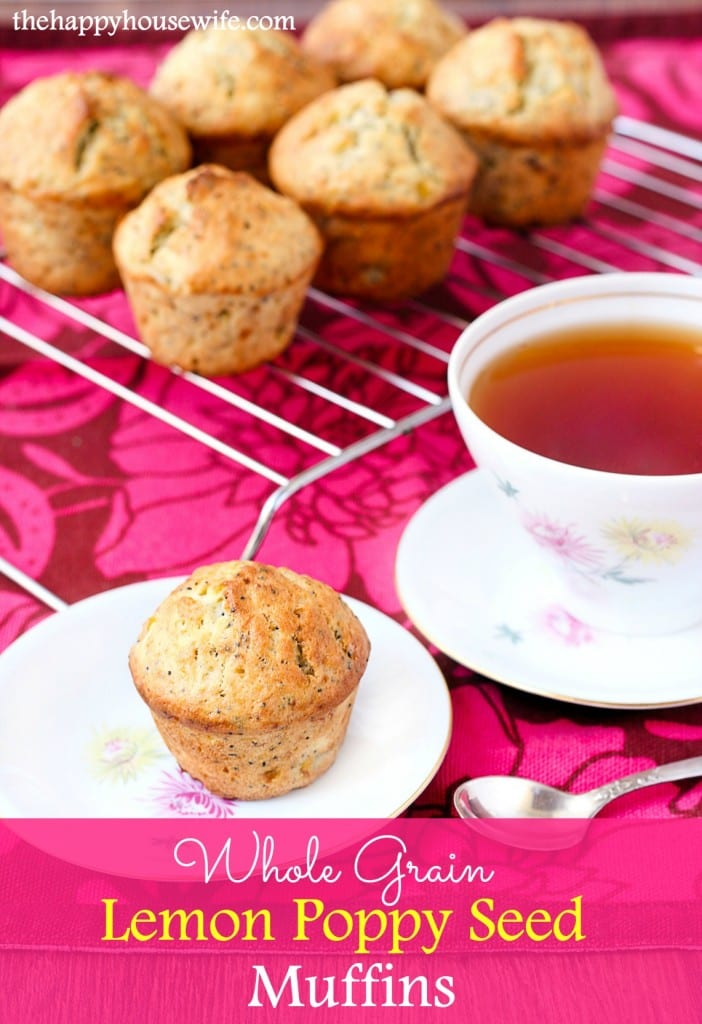 Delicious  and kid friendly whole grain poppy seed muffin.