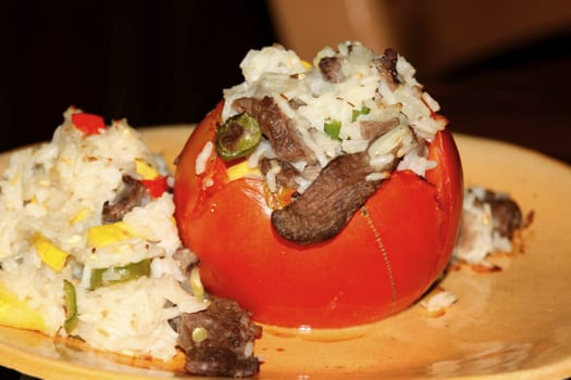 Stuffed Tomatoes at The Happy Housewife