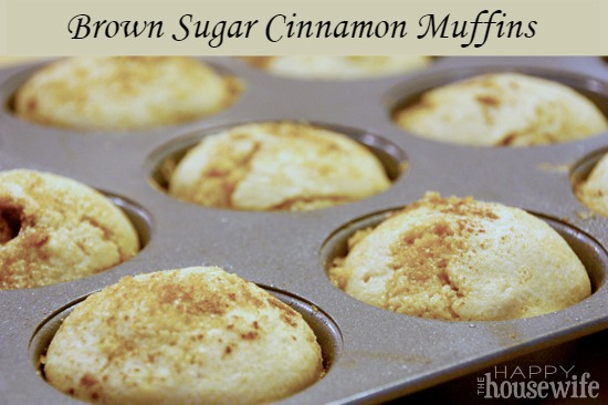 Brown Sugar Cinnamon Muffins at The Happy Housewife