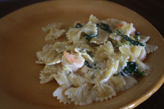 garlic shrimp and spinach pasta