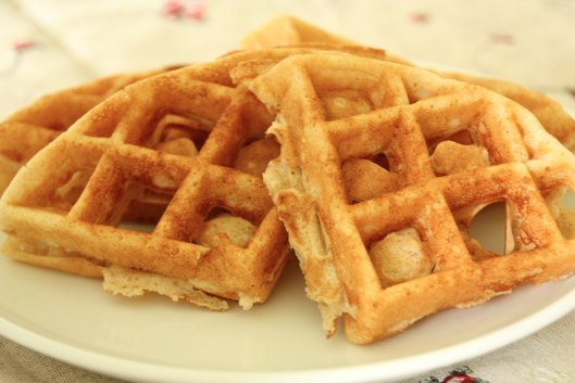 Whole Wheat Corn Waffles | The Happy Housewife
