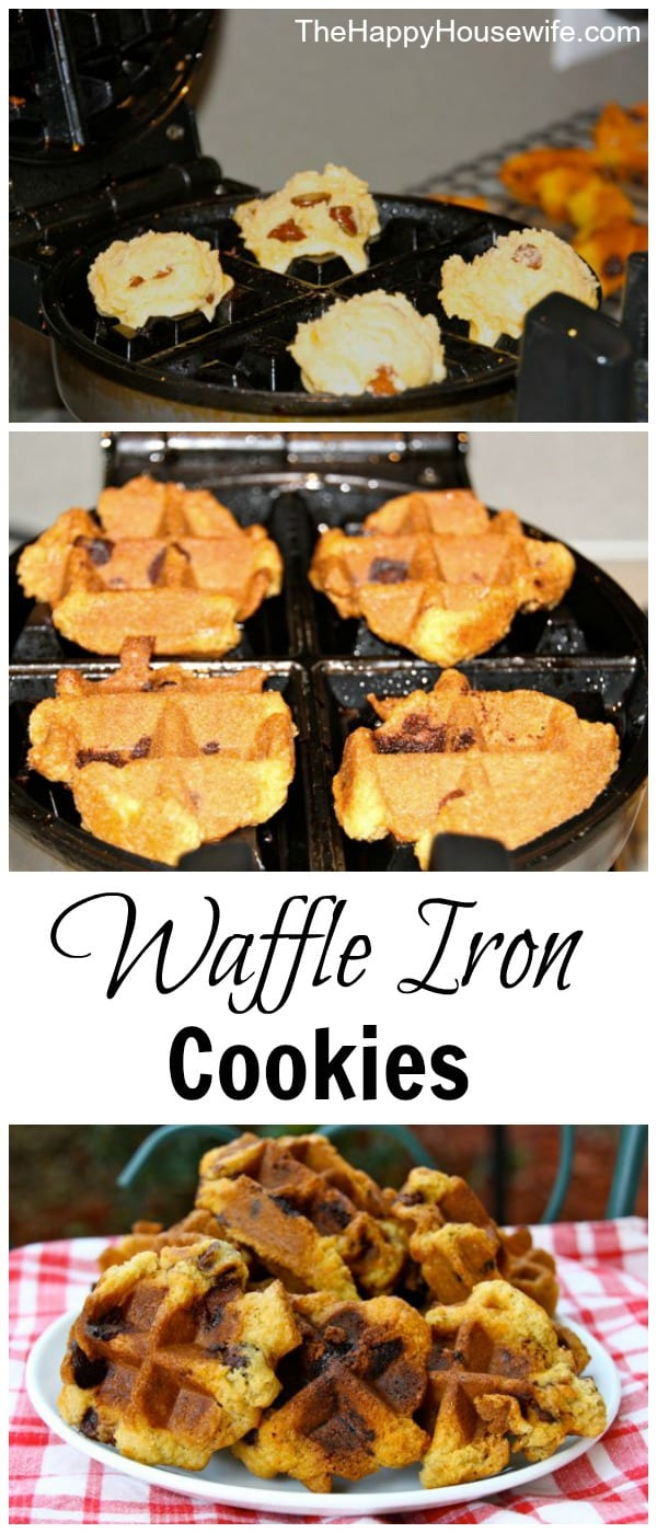 Waffle iron cookies are a fun treat to make for an after school snack or just when you are craving something sweet. All you need is your favorite cookie dough and a waffle iron. Get your cookie fix without heating up your kitchen!