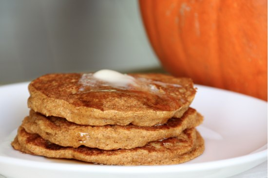 Pumpkin Pancakes at The Happy Housewife