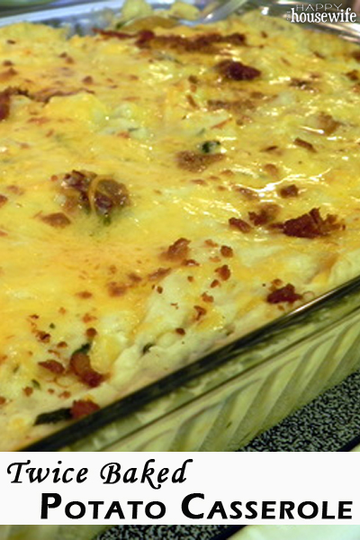 Twice Baked Potato Casserole | The Happy Housewife