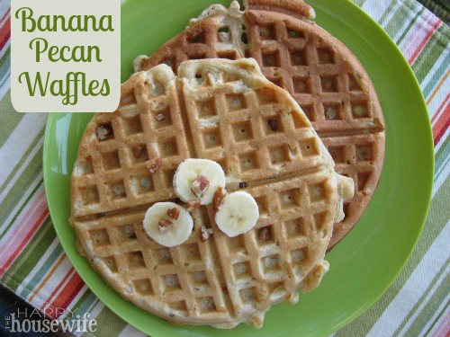 You'll love these homemade Banana Pecan Waffles