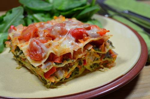 Vegetable Lasagna at The Happy Housewife