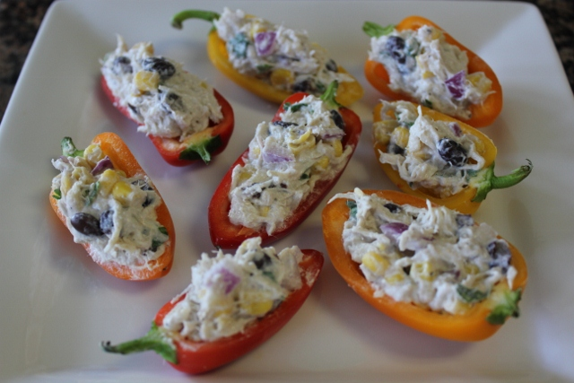 Fiesta Chicken Stuffed Bell Peppers