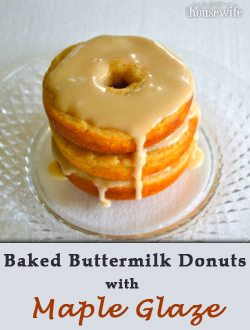 Baked Buttermilk Donuts with Maple Glaze | The Happy Housewife