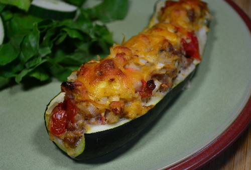 7 Delicious Ways to Use Zucchini (Stuffed Zucchini) at The Happy Housewife