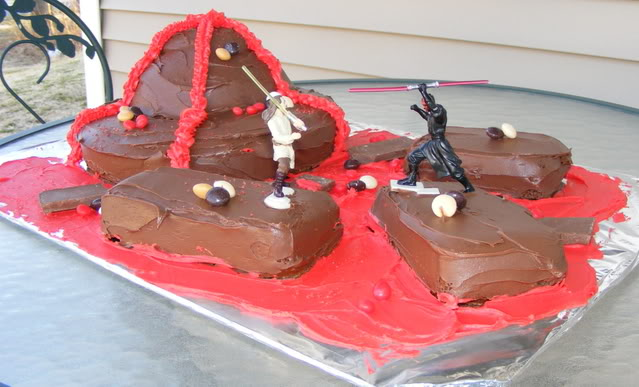 Easy homemade Star Wars cake