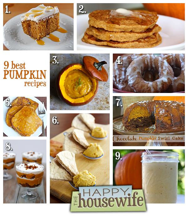 9 Best Pumpkin Recipes