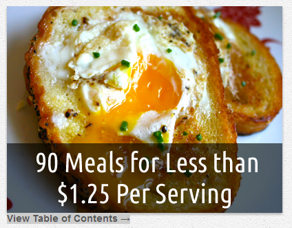 90 Meals Less Than $1.25 Per Serving