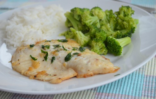 Lemon Garlic Tilapia - 9 Delicious Lemon Recipes at The Happy Housewife
