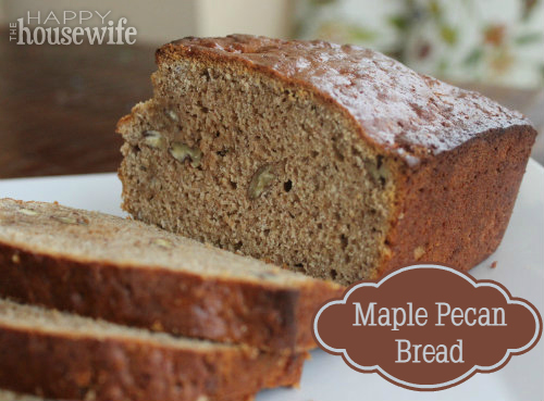 Maple Pecan Bread at The Happy Housewife
