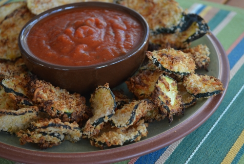 7 Delicious Ways to Use Zucchini (Baked Zucchini Chips) at The Happy Housewife