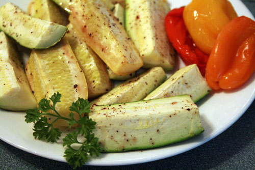 Broiled Summer Vegetables at The Happy Housewife