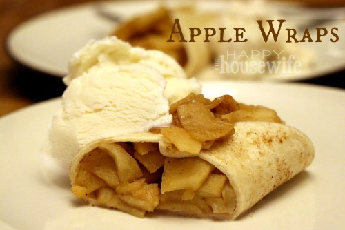 These Apple Wraps are a delicious way to use fall apples.