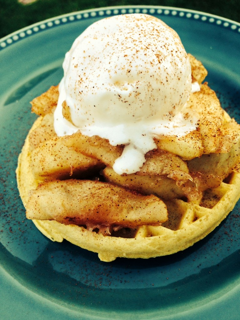Apple Waffle Bake at The Happy Housewife