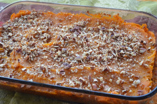Maple Pecan Sweet Potato Casserole at The Happy Housewife