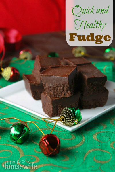 Quick and Healthy Fudge | The Happy Housewife