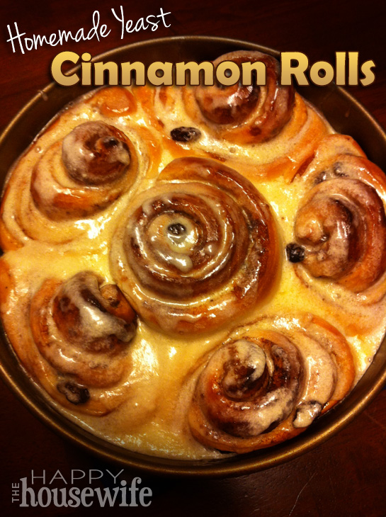 Homemade Yeast Cinnamon Rolls at The Happy Housewife