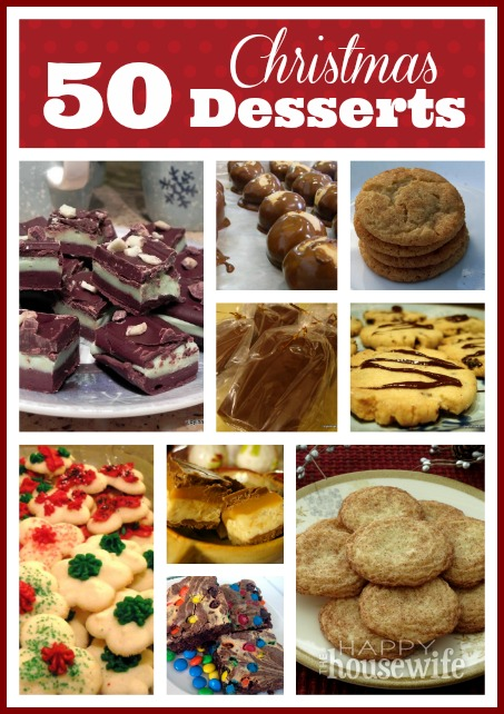 50 Christmas Dessert Recipes | The Happy Housewife