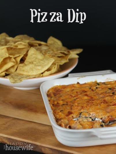 Pizza Dip | The Happy Housewife