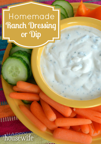 Homemade Ranch Dressing or Dip | The Happy Housewife