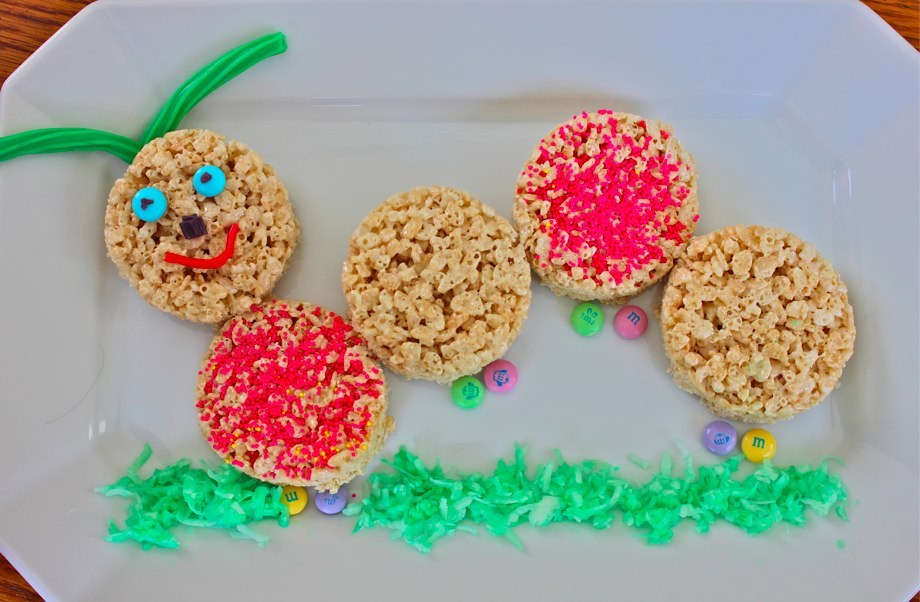 rice krispie caterpillar