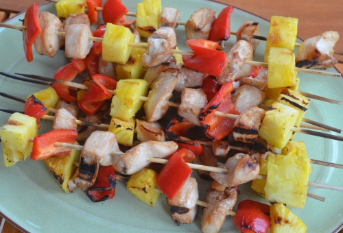 Grilled Pineapple Chicken Kebabs | The Happy Housewife