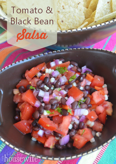 Tomato and Black Bean Salsa at The Happy Housewife