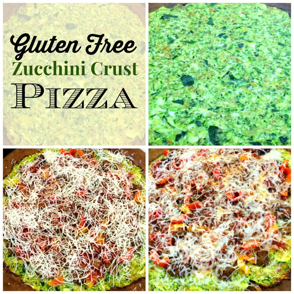 Zucchini Crust Pizza at The Happy Housewife