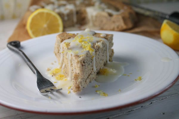 Gluten-Free and Vegan Lemon Poppy Seed Pound Cake at The Happy Housewife