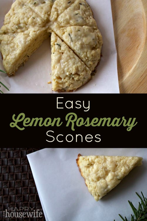 These Easy Lemon Rosemary Scones are delicious and simple to make. I ...