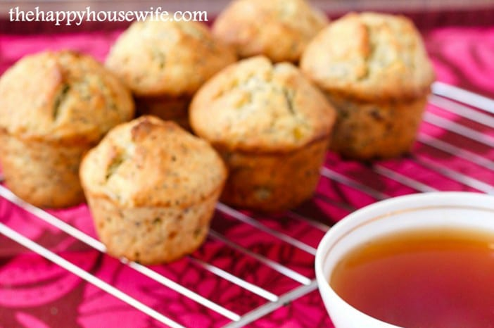 Whole Grain Popy Seed Muffins - 9 Delicious Lemon Recipes at The Happy Housewife