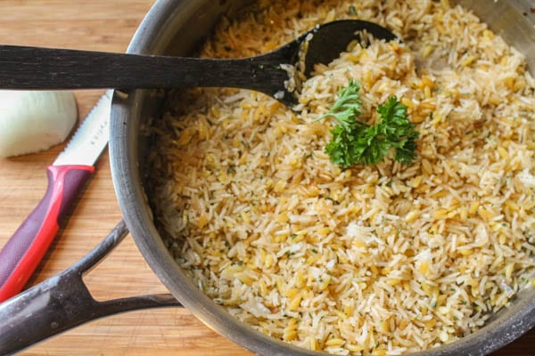 This homemade Rice-a-Roni is a delicious substitute for the box version and is perfect for families. It can also easily be made gluten free.