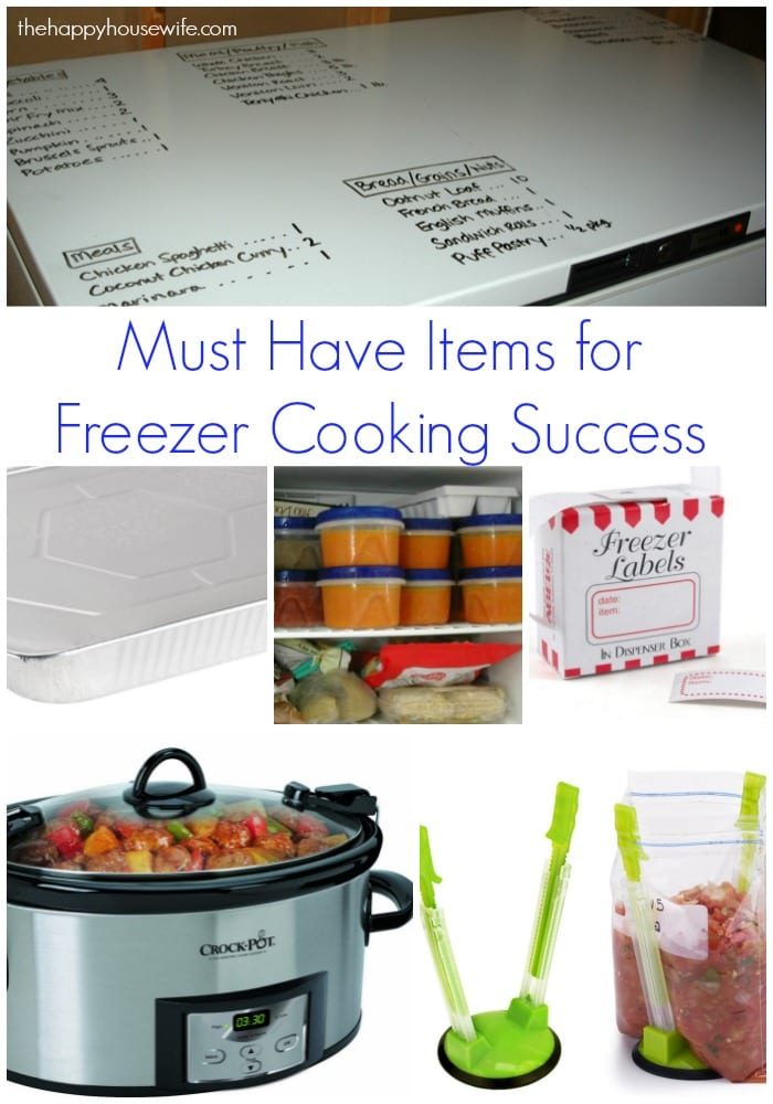 Freezer cooking is one of the best ways to save time and money on your grocery bill. You'll want to stock your kitchen with these 10 must-have items for freezer cooking success.