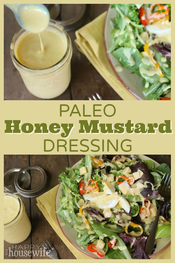 This homemade paleo honey mustard dressing was a surprise for me. One taste and it quickly became one of my favorites. It's also kid friendly.