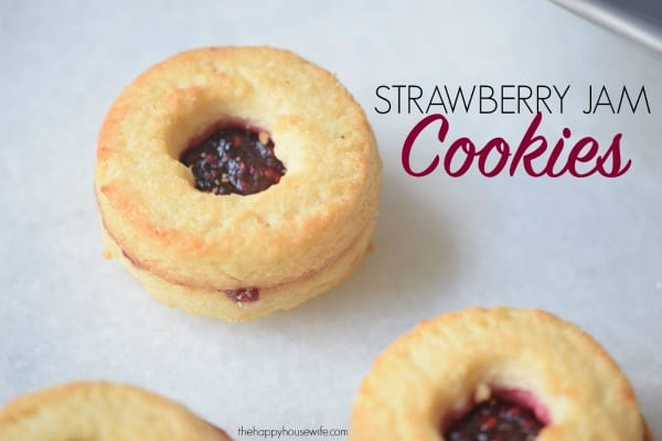 These homemade strawberry jam cookies are both pretty and delicious! They're perfect for holiday parties and gift giving.