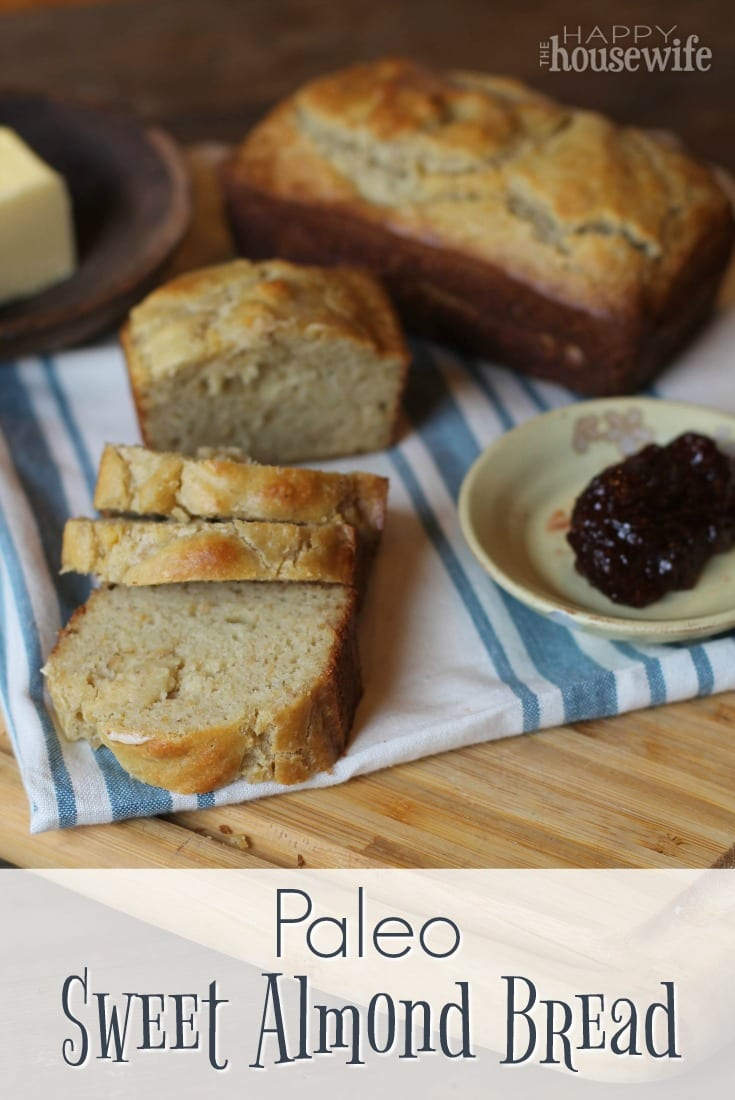 This Paleo Sweet Almond Bread really satisfies any carb or bread craving you may have. This simple quick bread is delicious!