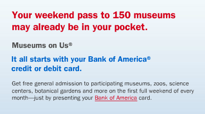 free museum admission with bank of america Free Museum Admission this Weekend through Bank of Americas Museums on Us