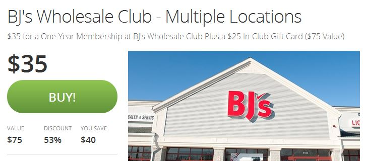 BJ's Wholesale Club Membership for $35 + Rece…