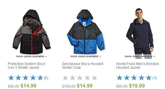 boy and men clearance jackets from sears